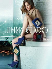 Catherine McNeil is the face of Jimmy Choo fall 201