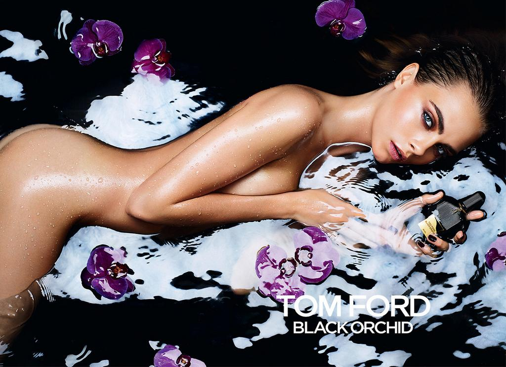 Cara Delevingne strips down for Tom Ford Black Orchid fragrance campaign