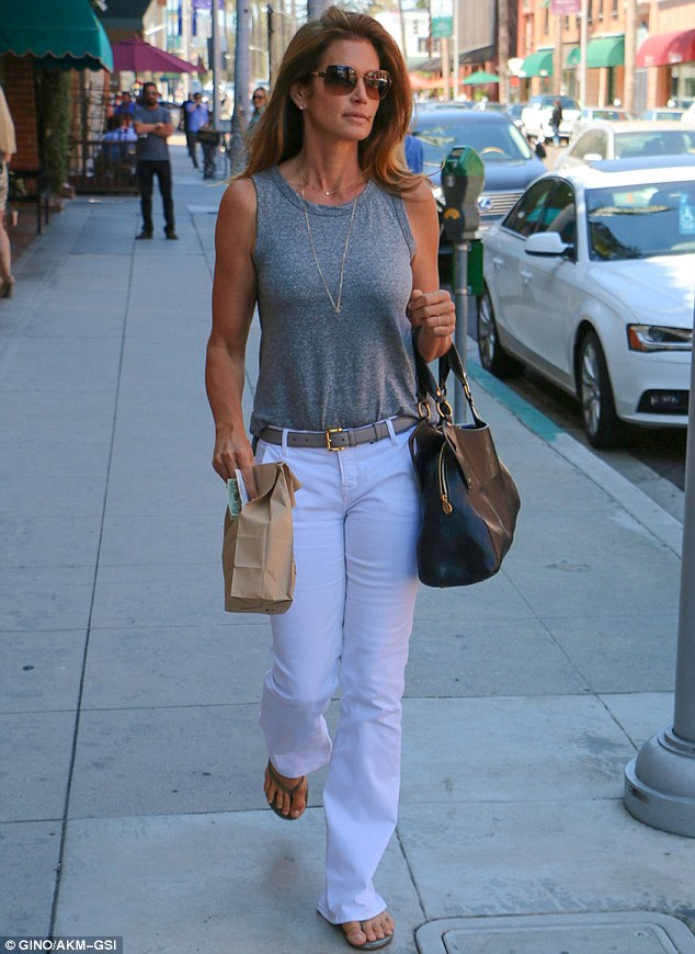 Cindy Crawford turns heads while out in Beverly Hills