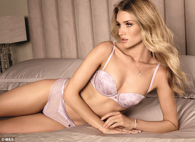 Rosie Huntington-Whiteley showcases her new M&S lingerie collection