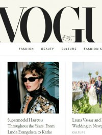 Vogue\'s website gets a surprising makeover