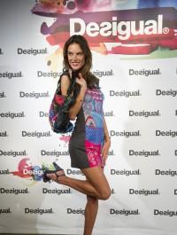 Alessandra Ambrosio shows off her trim legs during Desigual event in Madrid