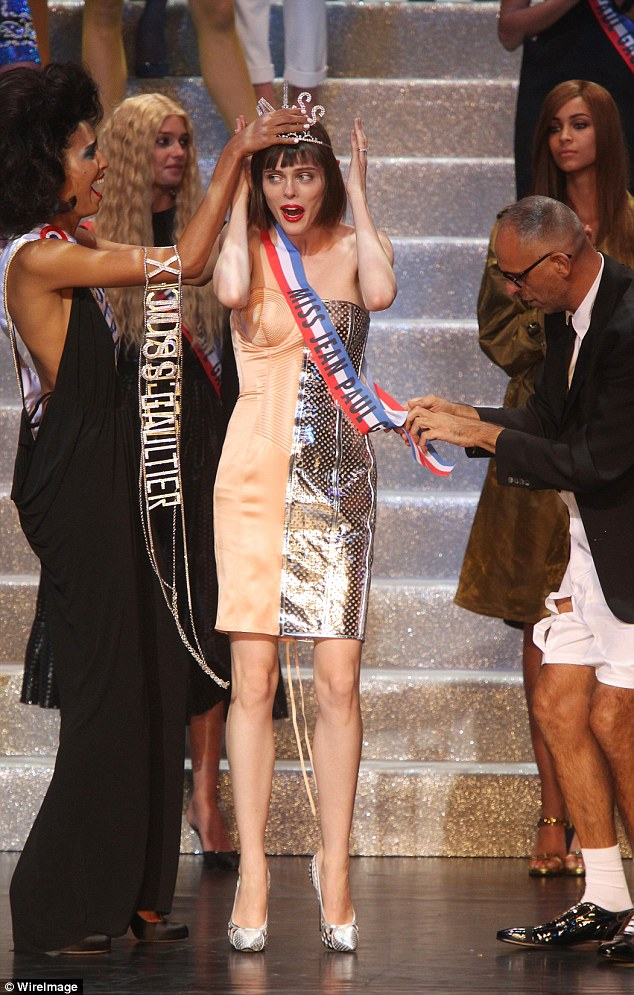 Coco Rocha is crowned Miss Jean Paul Gaultier during designer\'s last ready-to-wear show