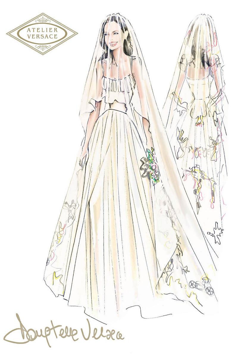 Designer of Angelina Jolie\'s custom wedding dress unveiled