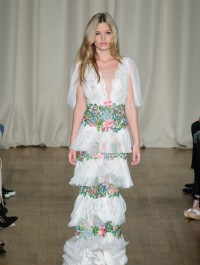 Georgia May Jagger opens Marchesa\'s 10th anniversary show