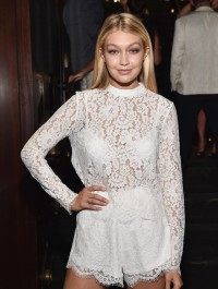 Gigi Hadid dazzles in lacy white ensemble