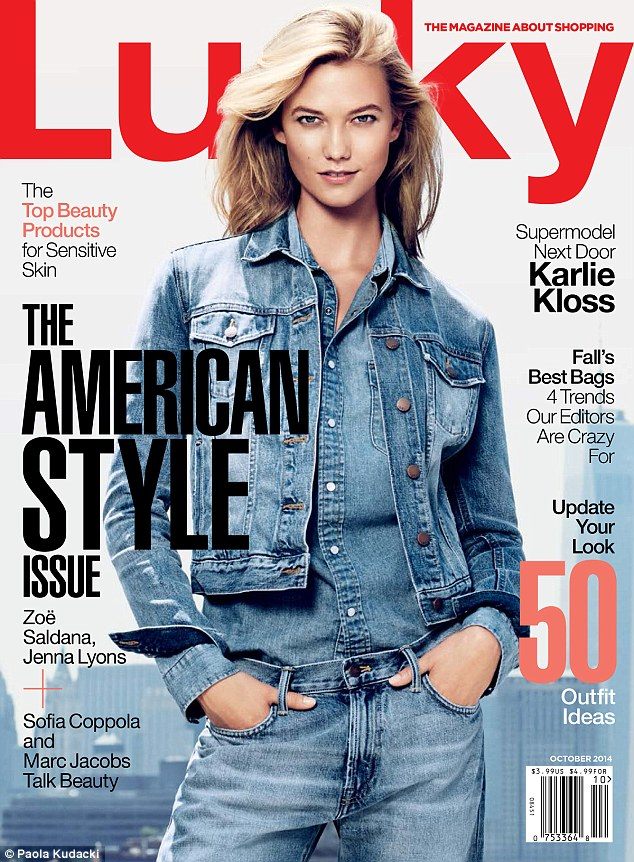 Karlie Kloss covers Lucky Magazine October issue