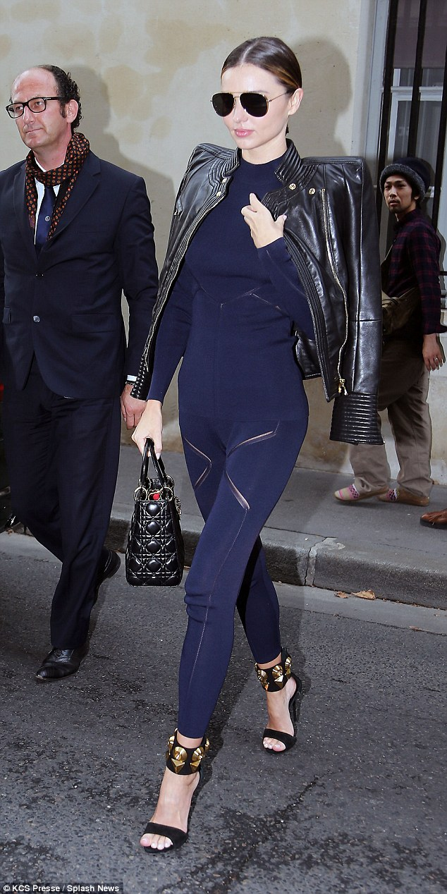 Miranda Kerr turns heads in snug get-up while hitting the Sonia Rykiel spectacle