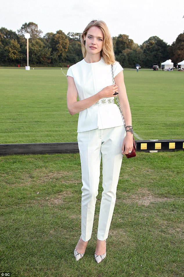 Natalia Vodianova wows in demure white outfit at Chovgan Twilight Polo Gala