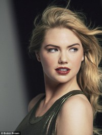 Kate Upton smolders as the face of Bobbi Brown\'s new make-up collection