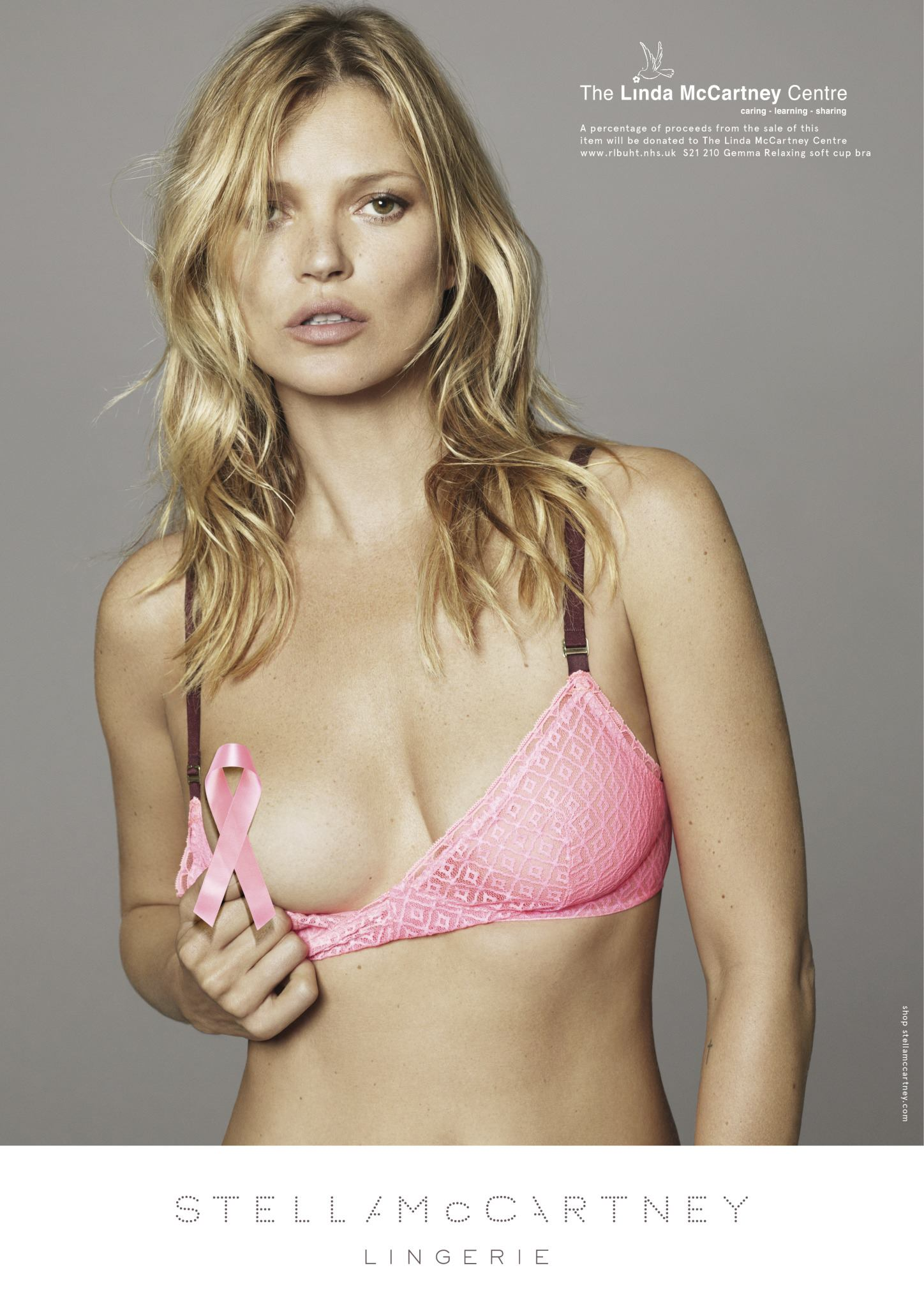 Kate Moss fronts Stella McCartney Breast Cancer Awareness campaign