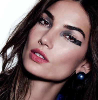 Lily Aldridge smoulders in Allure Russia October 2014