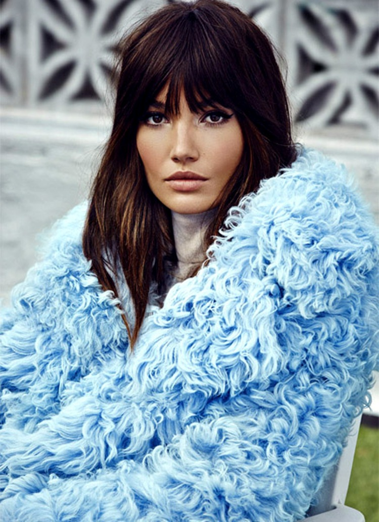 Lily Aldridge is a spitting image of Jane Birkin in S Moda Shoot