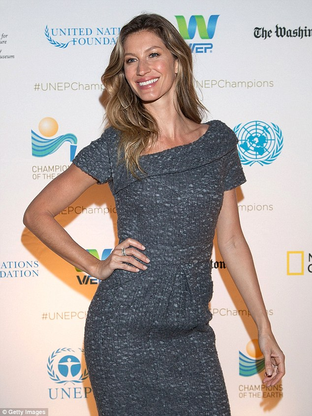Gisele Bundchen does demure at UNEP Champions of the Earth event