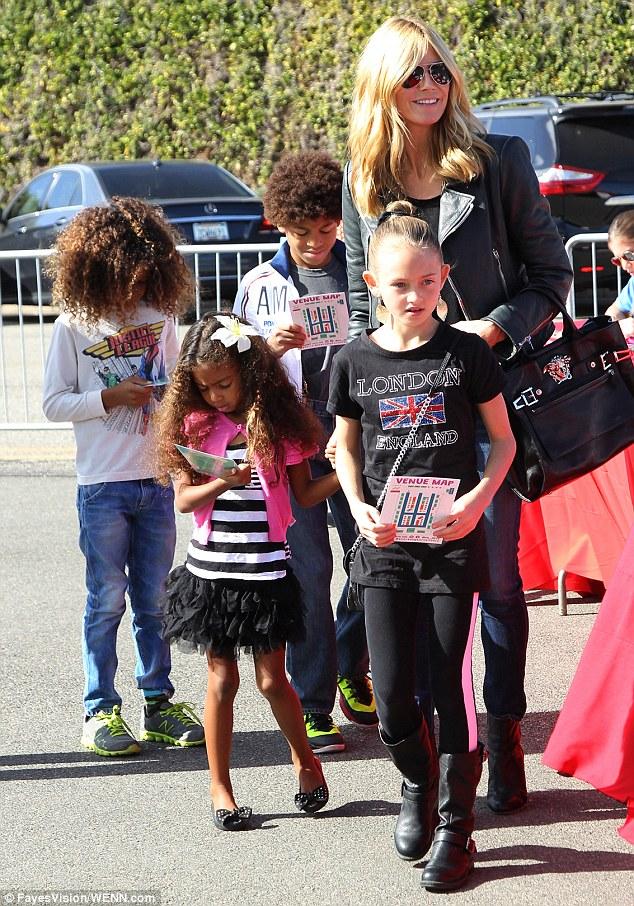 Heidi Klum hits P.S. ARTS event in company of her children