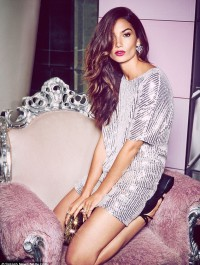Lily Aldridge sparkles in Nelly Christmas campaign