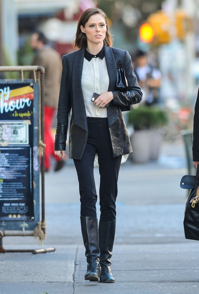 Mother-to-be Coco Rocha strolls NYC in stylish getup