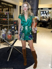 Petra Nemcova dazzles in little green dress at Be The Light candles launch