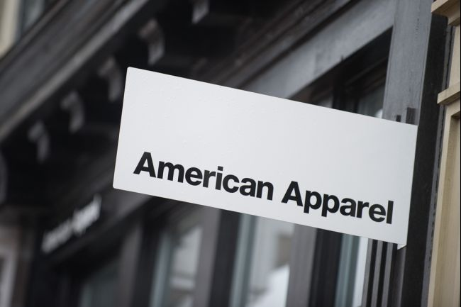 American Apparel sales continue to drop