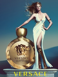 Lara Stone Is A Greek Goddess In Versace �Eros Pour Femme� Ad