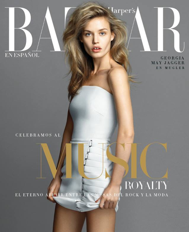 Georgia May Jagger Covers Harper's Bazaar Mexico December 2014