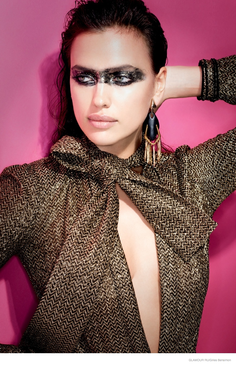 Irina Shayk wows in cover story of Glamour Russia