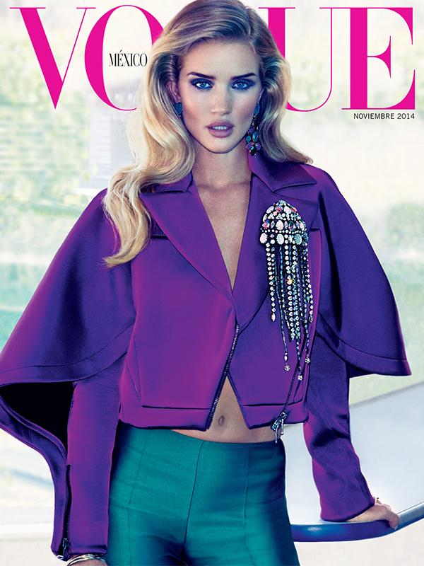 Rosie Huntington Whiteley Does Chic Laundromat Romp In \'Vogue\' Mexico