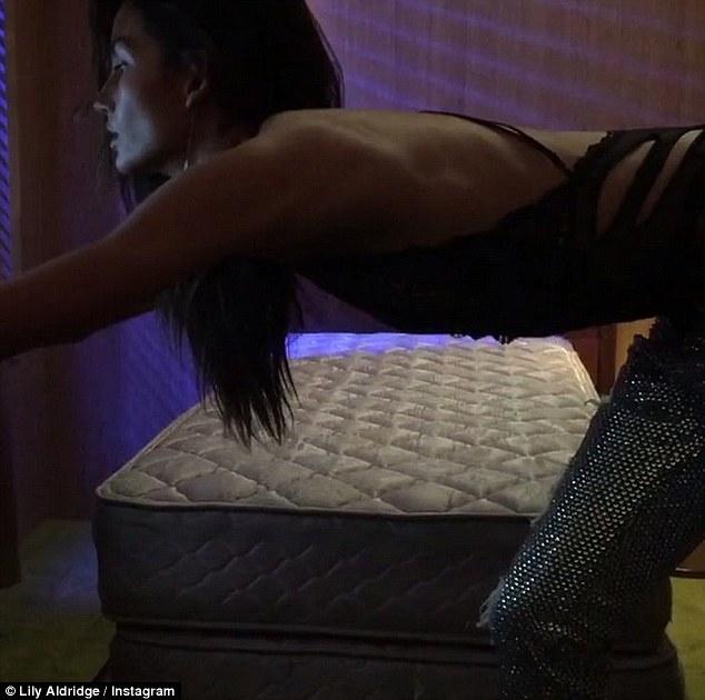 Lily Aldridge Dances in sexy lingerie for Love Magazine\'s Advent Calendar