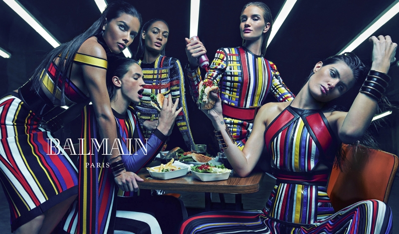 Balmain\'s Spring/Summer 2015 Campaign Features All Star Cast Of Supermodels
