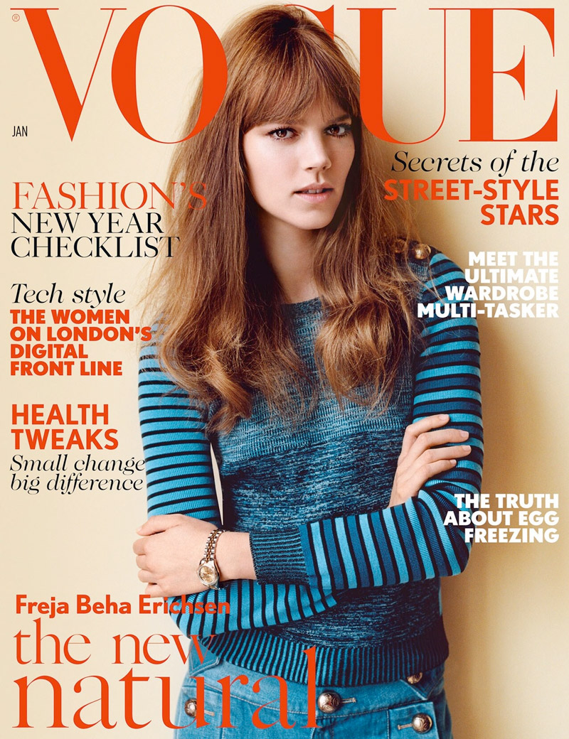 Freja Beha Erichsen Fronts January\'s Vogue