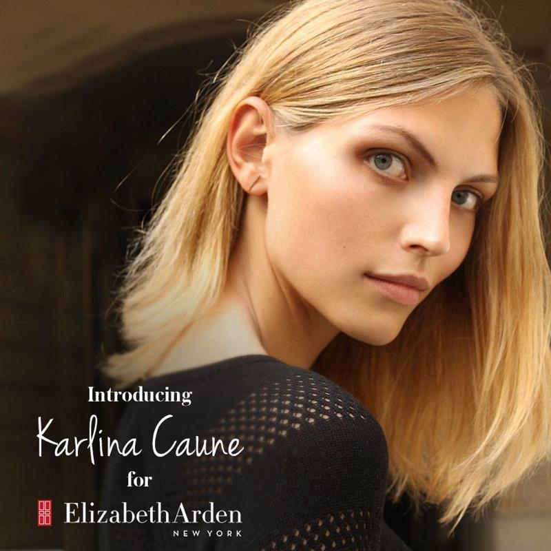 Model Karlina Caune Named New Elizabeth Arden Brand Ambassador