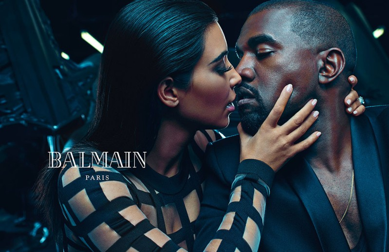 Kim Kardashian and Kanye West star in steamy new Balmain campaign