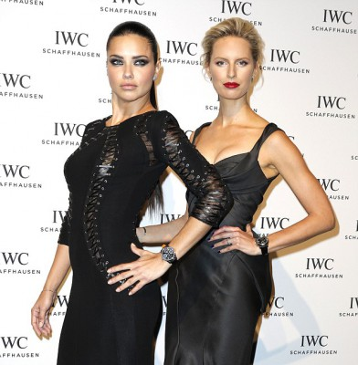 Adriana Lima and Karolina Kurkova stun at IWC dinner gala