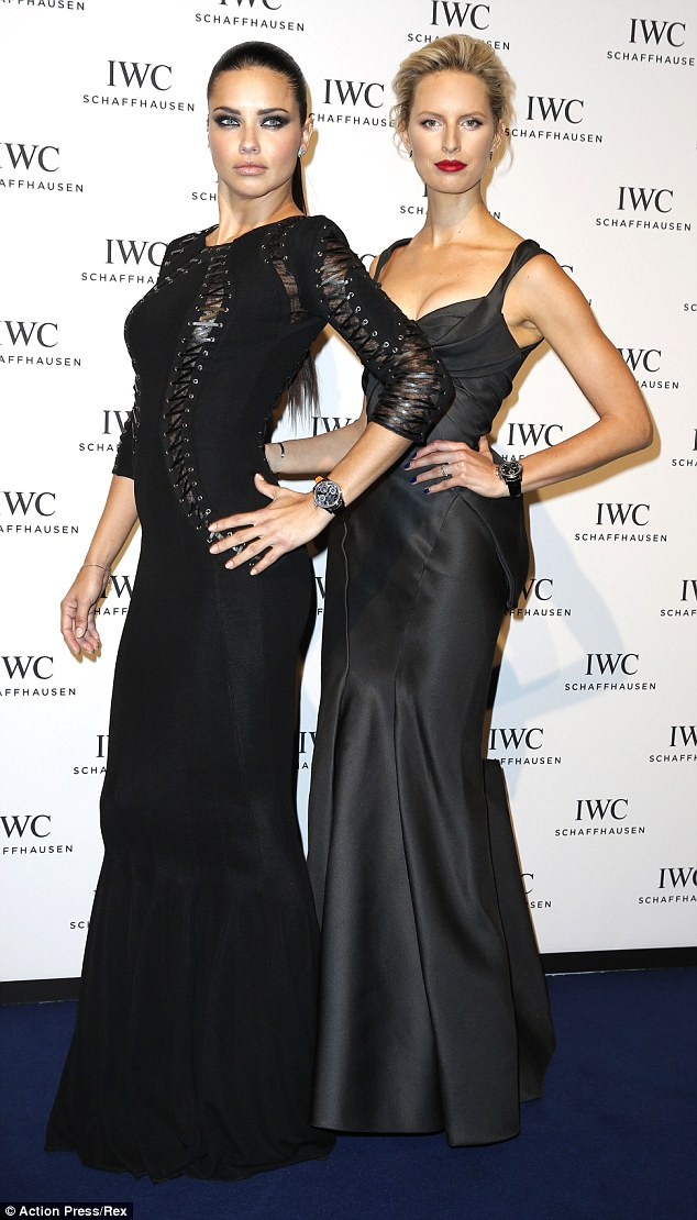 Adriana Lima and Karolina Kurkova stun at IWC dinner gala