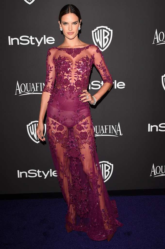 Alessandra Ambrosio is a sheer delight at Golden Globes after-party