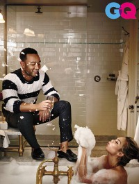 Chrissy Teigen gets intimate with John Legend for GQ US