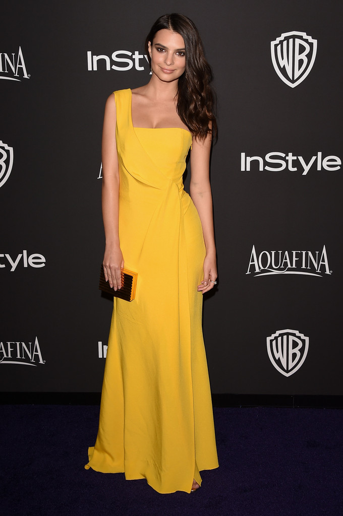 Emily Ratajkowski shines at Golden Globes after-party