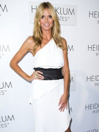 Heidi Klum rocks asymmetrical frock at Australian lauch of her intimates range