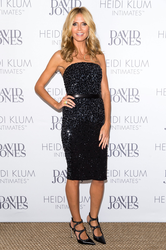 Heidi Klum shines at dinner gala to celebrate her intimates line