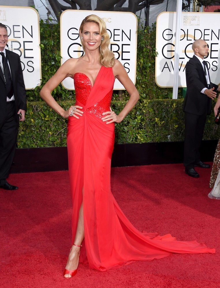 Heidi Klum sizzles at the Golden Globes