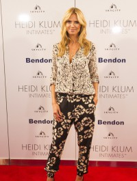 Heidi Klum wows in monochrome getup while promoting intimates range