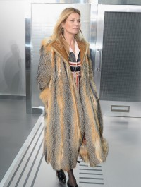 Kate Moss hits Louis Vuitton menswear show in extravagant fur coat