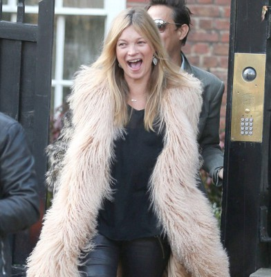 Kate Moss steps out in chic getup to kick off her 41st birthday celebrations