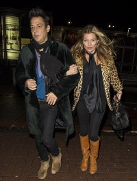 Kate Moss steps out in leopard print coat after party night