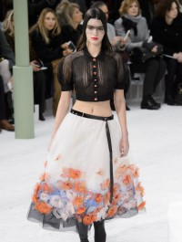 Kendall Jenner struts the Chanel Haute Couture show