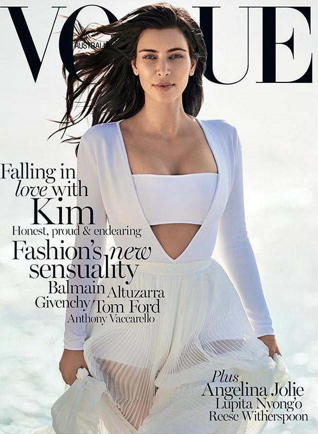 Kim Kardashian lands her second (and first solo) Vogue cover