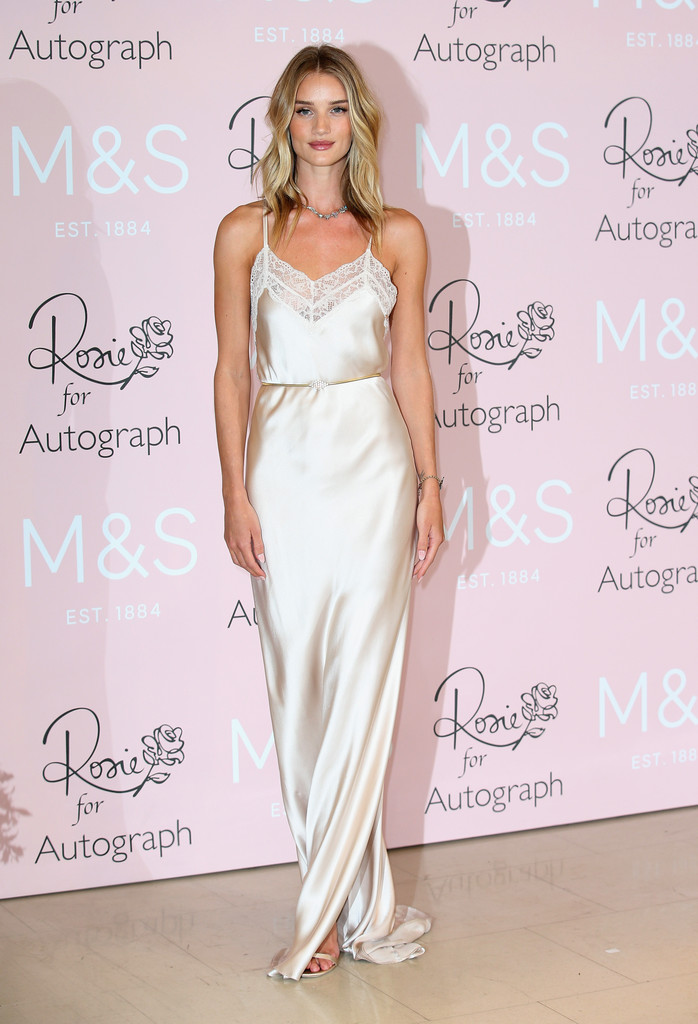 Rosie Huntington-Whiteley dazzles during launch of her M&S perfume