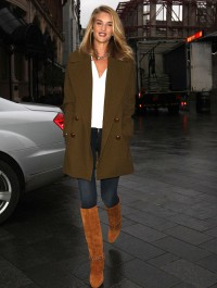 Rosie Huntington-Whiteley rocks eye-catching outfit during London outing