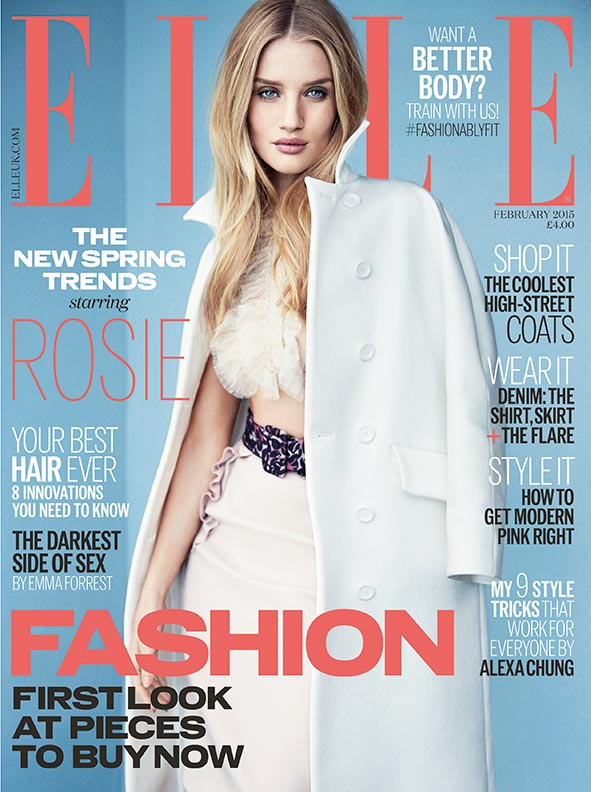 Rosie Huntington-Whiteley Covers ELLE UK February Issue, Talks Ambition