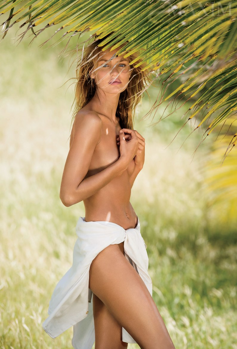 Candice Swanepoel goes topless for \'Maxim\' magazine